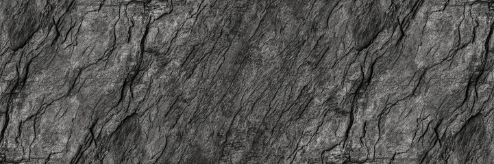 Papiers peints Cailloux horizontal black stone texture for pattern and background