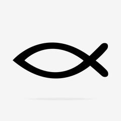 Fish sign. Christian fish symbol. Christianity