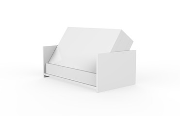 Professional blank business card with card holder on isolated white background, 3d illustration