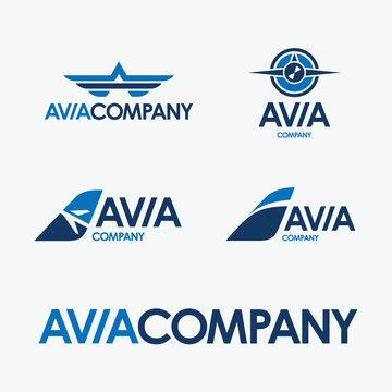 avia company vector logo