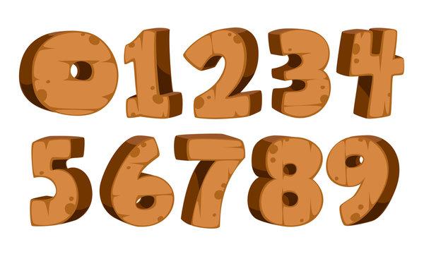 Wooden Alphabet numbers