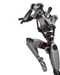 mega robot super drone in a white background
