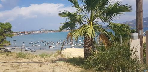 Plaża podróże widok krajobraz port zatoka morze