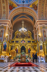 Warsaw, Poland - April 16, 2017: Interior of the Cathedral of St. Mary Magdalene, during the Holy...