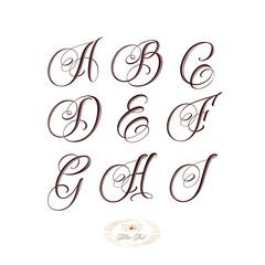 Tattoo font set bold
