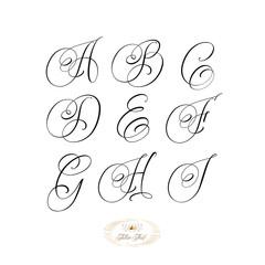 Tattoo font set