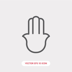 religion hand icon vector