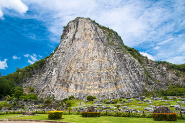 Golden Buddha. Giant Buddha image on the mountain in  Pattaya , Thailand