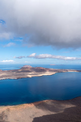Wall Murals Spring Canary Islands, Graciosa island view from observation point Mirador del Rio