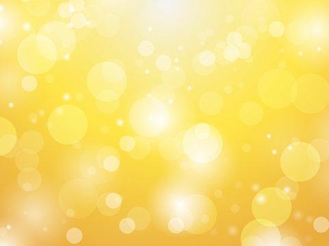 Abstract bokeh balls lights on golden background vector illustration