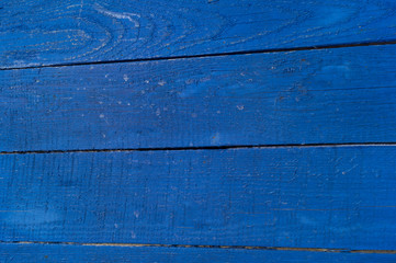 background of painted boards, blue wood texture