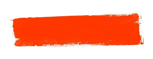 Leerer schmutziger Farbstreifen rot
