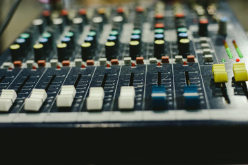 Audio mixer used by a DJ