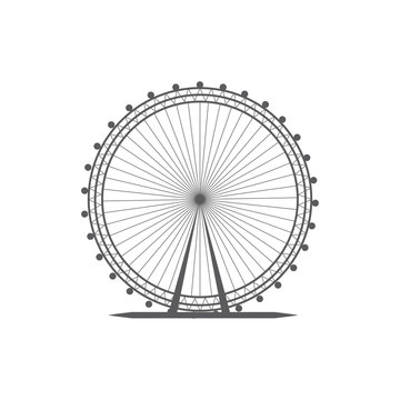 London eye icon. London eye icon vector. Linear style sign for mobile concept and web design. vote symbol illustration. London eye vector graphics - Vector