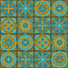 Moroccan ceramic tile pattern.