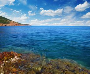 Sea with rocks.
