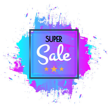 Abstract super sale poster, sale banner template design for web and mobile size. vector