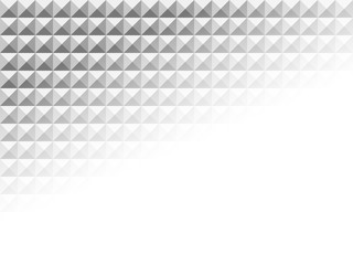 White geometric texture pattern with transparency bottom-right corner. Abstract vector background.
