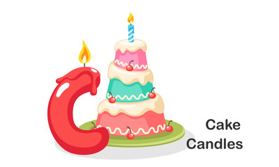 C for Cake Candles
