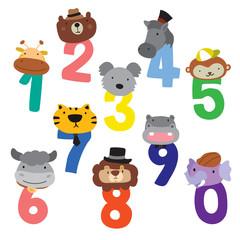 animals number vector design