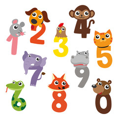 animals number vector design