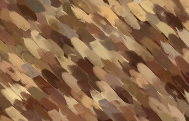Colorful brown brush animal print strocke background abstract texture