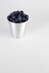 Blueberries in aluminum cup