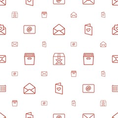 mail icons pattern seamless white background