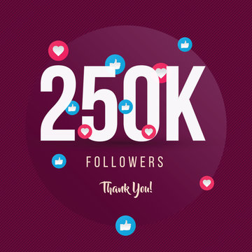250K Followers Thank You, Post