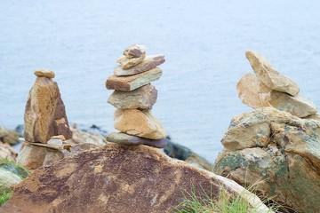 Rare rock in the island