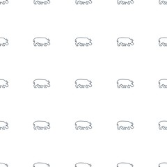 hippopotamus icon pattern seamless white background