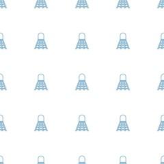 shuttlecock icon pattern seamless white background