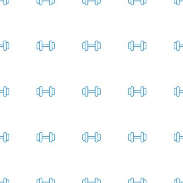 barbell icon pattern seamless white background