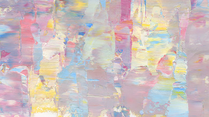 Colorful abstract painting background. Texture oil paint, palette knife & blur. High detail.