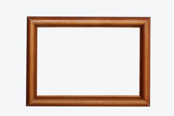 isolated wooden frame