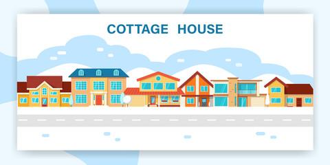 Modern winter cottage house