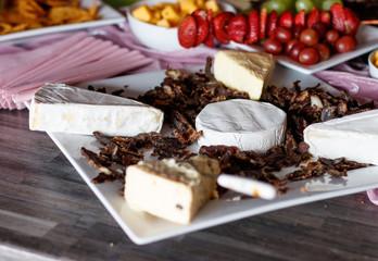 cheese and biltong snacks
