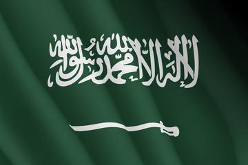 Graphic illustration of a flying Arabian flag