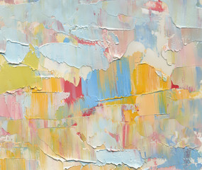 Colorful abstract painting background. Texture oil paint, palette knife & blur. High detail. Can be used for web design, art print, textured fonts, figures, shapes, etc.