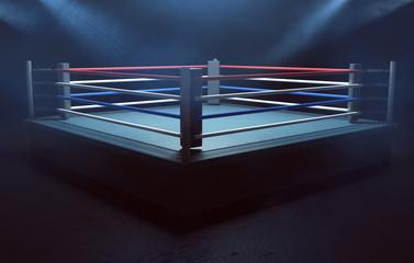Boxring im Rauch