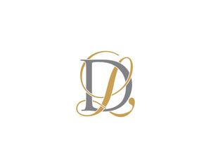 Fototapeta DL LD Letter Logo Icon 002 obraz