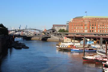 View to Harbour City (HafenCity)  Hamburg - Germany