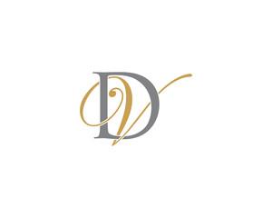 DV VD Letter Logo Icon 002