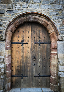 medieval castle wooden door