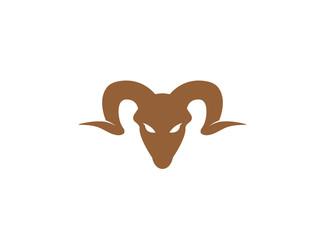 Mountain sheep with angry face, Bergschaf logo