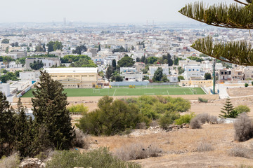 View of the Tunis from the ruins of Carthage, Tunisia, Africa