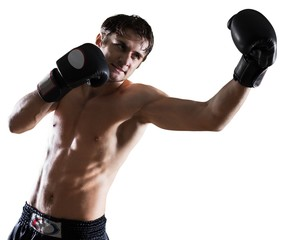 Male Boxer / Kickboxer Punching