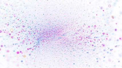 Abstract blue and violet blurred lights. Fantasy colorful holiday sparkle background. Digital fractal art. 3d