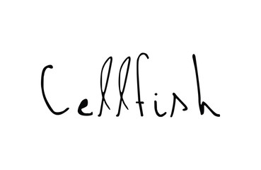 Cellfish  quote in vector.