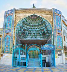 The entrance portal of Mirza Mahdi Mosque, Isfahan, Iran